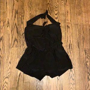Black romper swimsuit/coverup